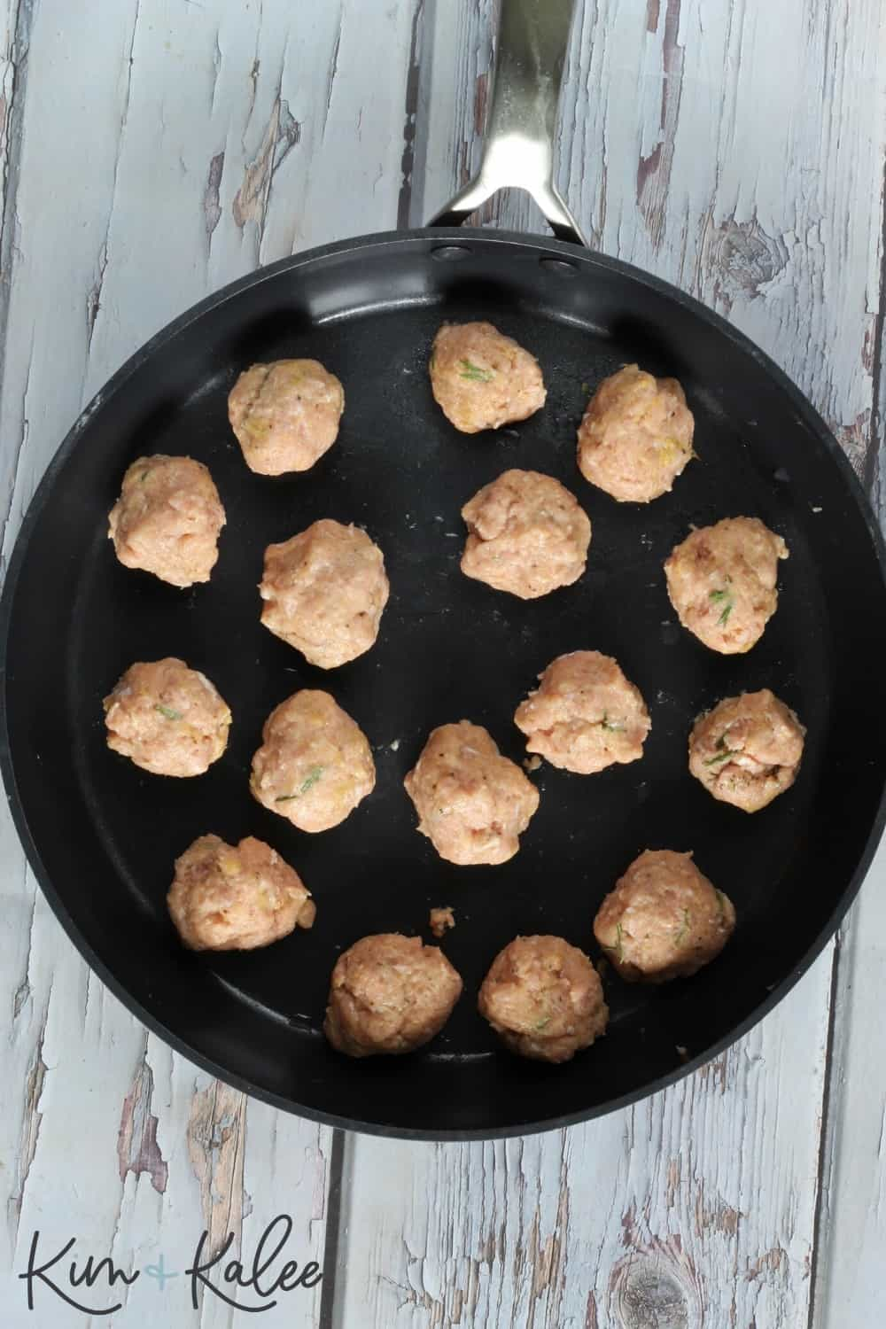 form the turkey meatballs into one inch balls