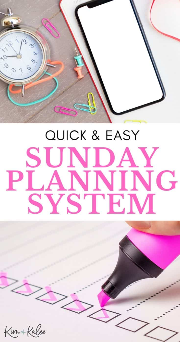 Quick & easy Sunday Planning System collage