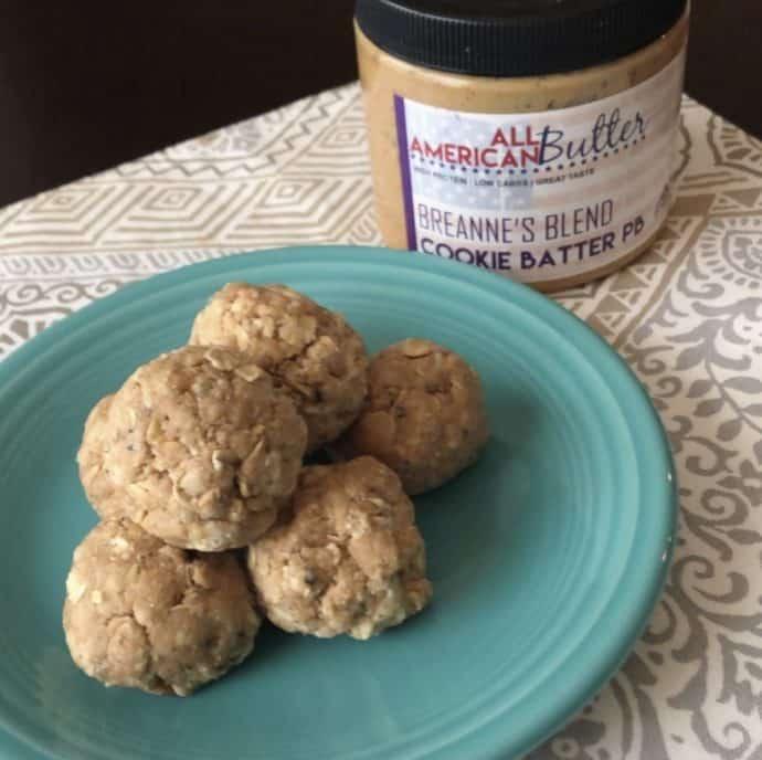 All American Butter Peanut Butter Protein Balls