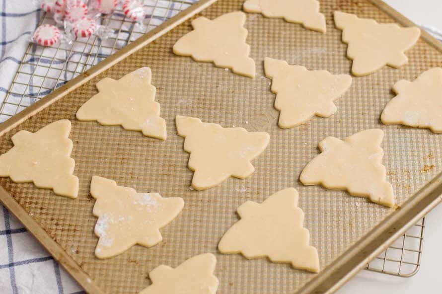 Baking Christmas Tree Sugar Cookies