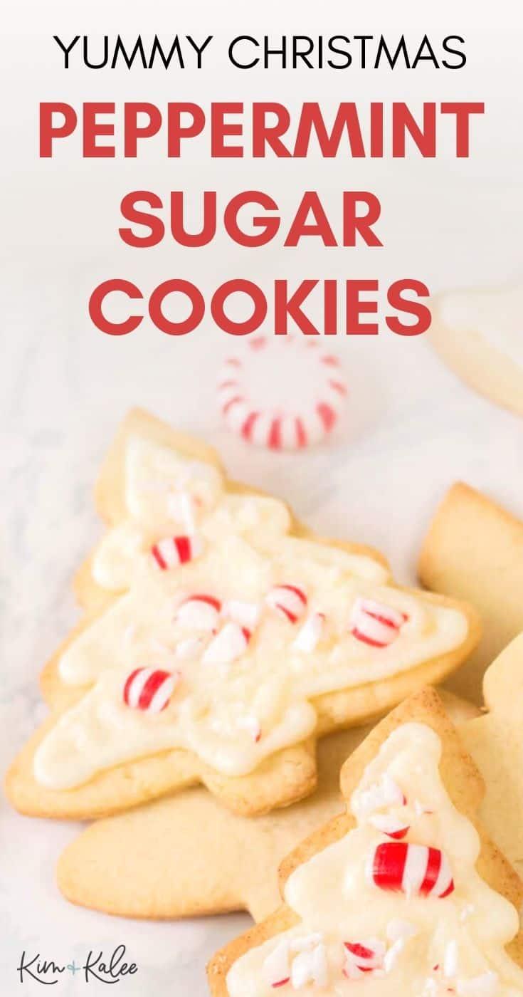 yummy Christmas Peppermint Sugar Cookies