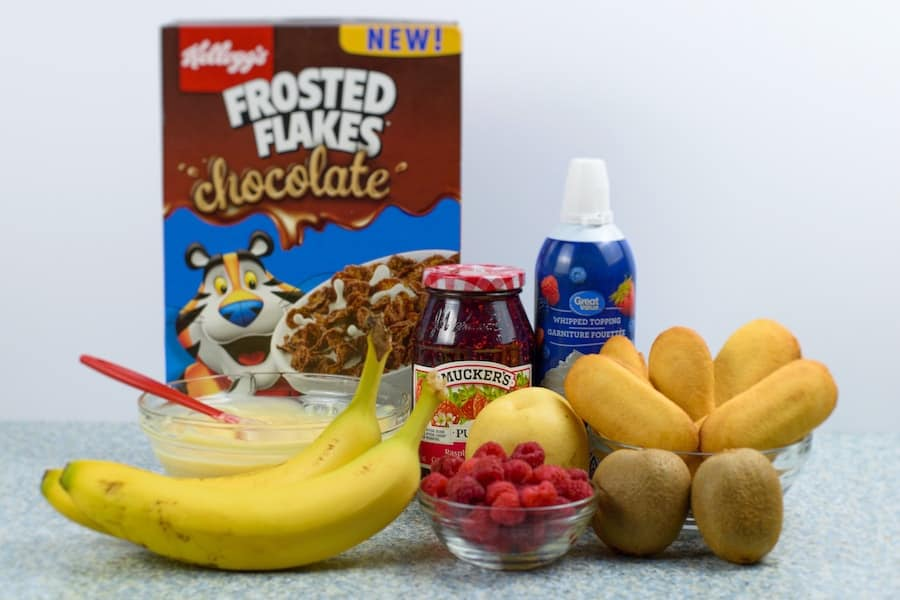 Ingredients for Rachel's Trifle on Friends
