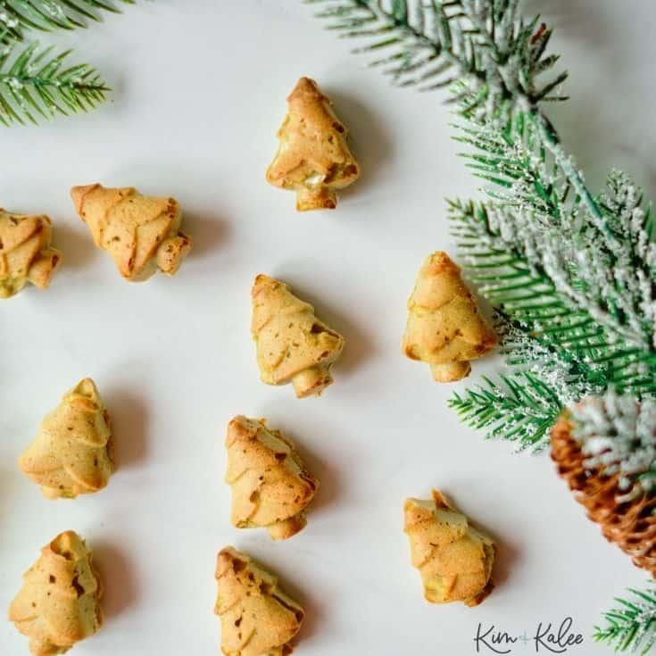 Homemade Dog Christmas Tree Cookies