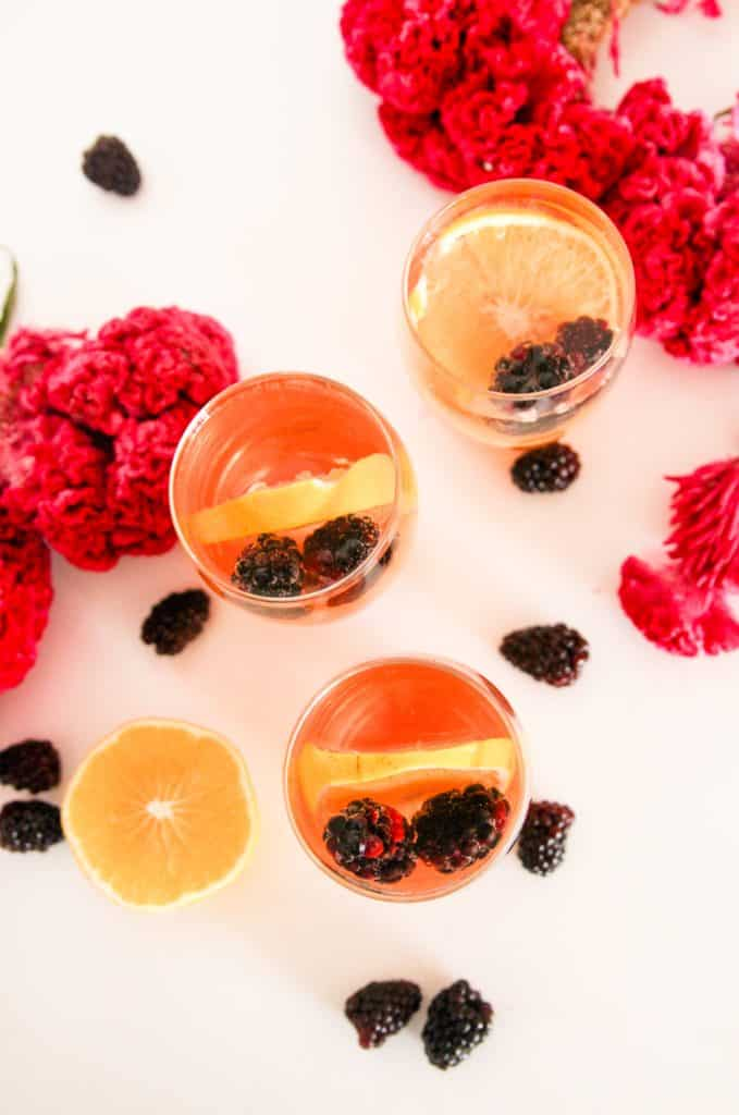 3 grasses of easy rosè sangria with vodka