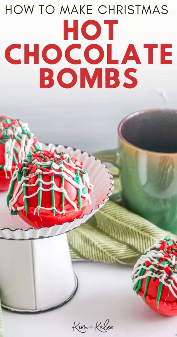 How to Make Red and Green Christmas Hot Chocolate Bombs