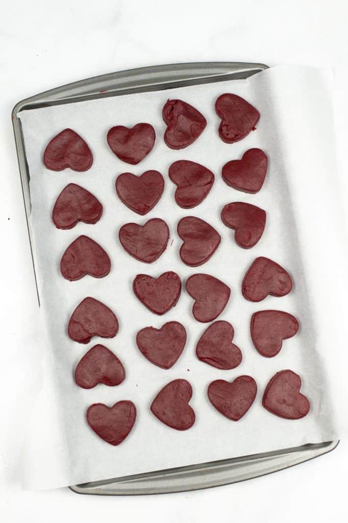 cake mix truffle hearts