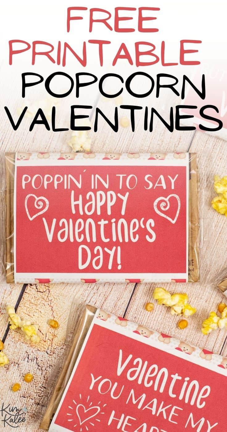 Free Popcorn Valentine Ideas