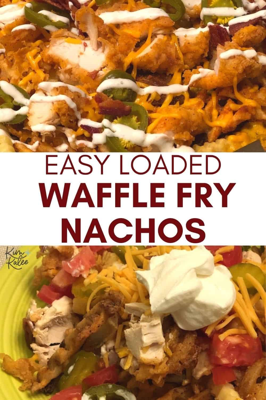 fried chicken loaded waffle fry nachos