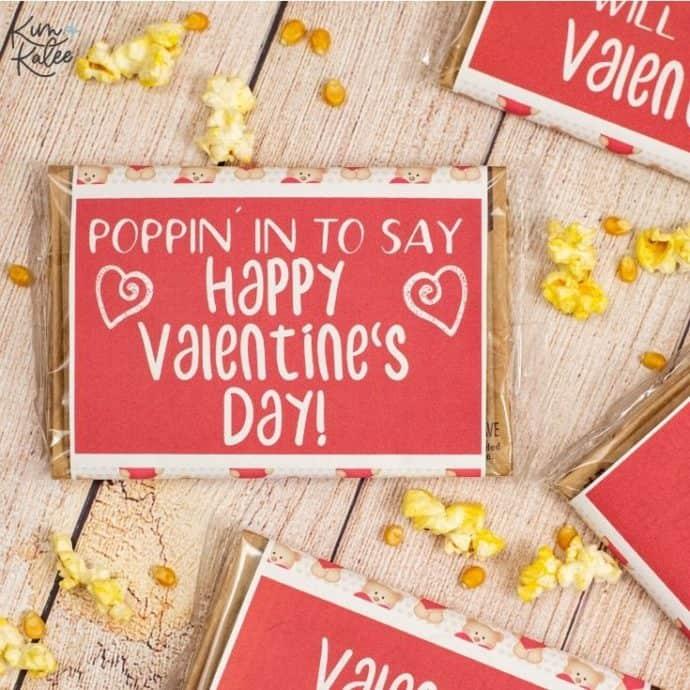 free popcorn valentine's day card printable