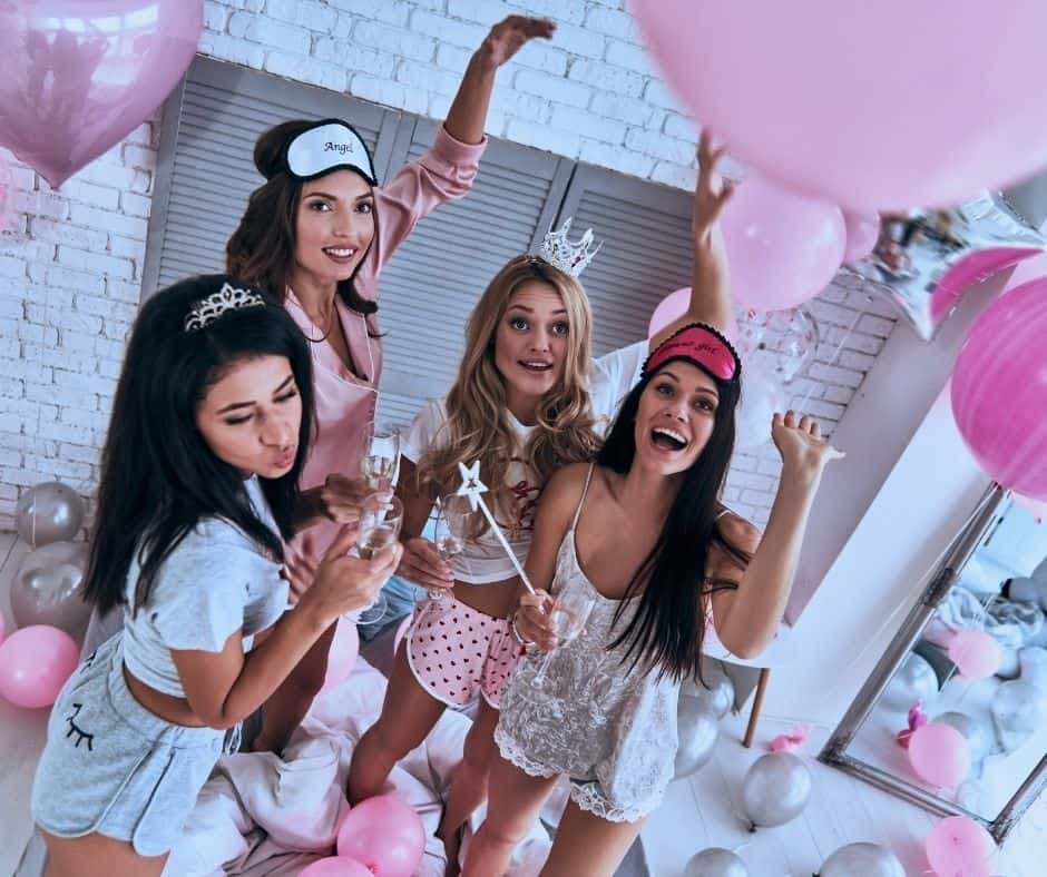 18th birthday slumber party with 4 girls
