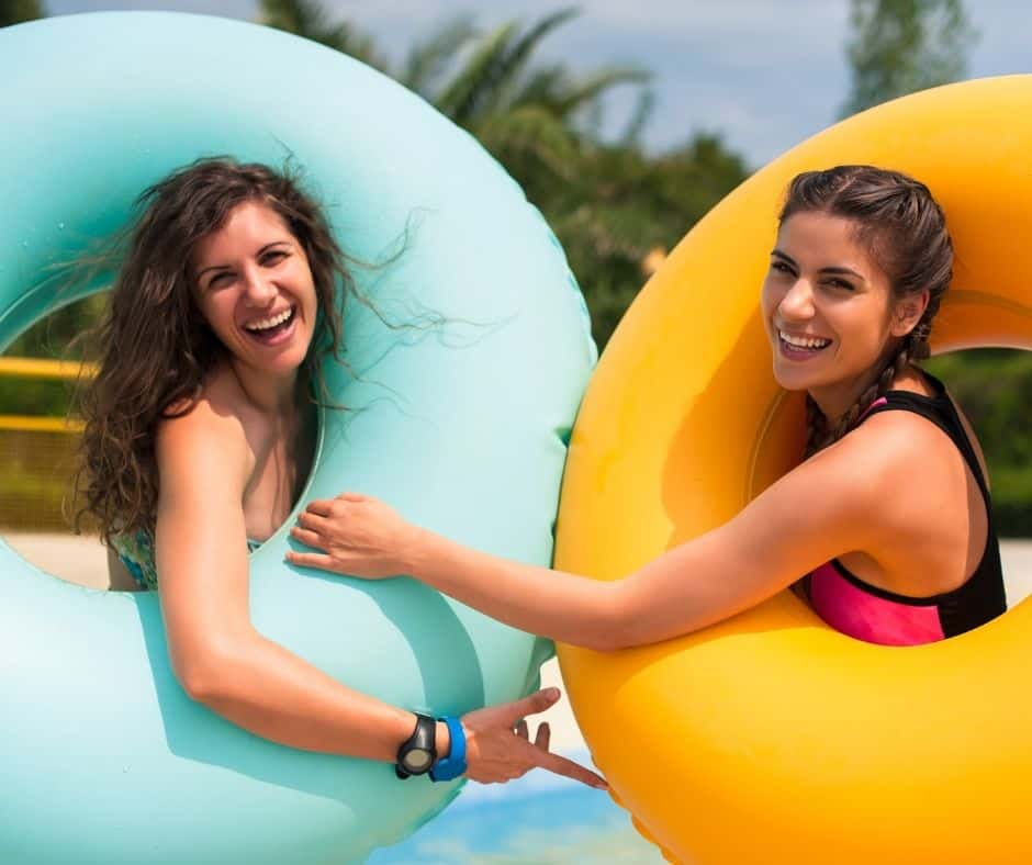 water park with a friend