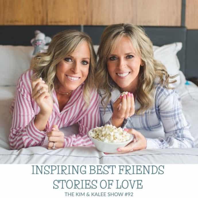 Kalee & Kim on bed eating popcorn