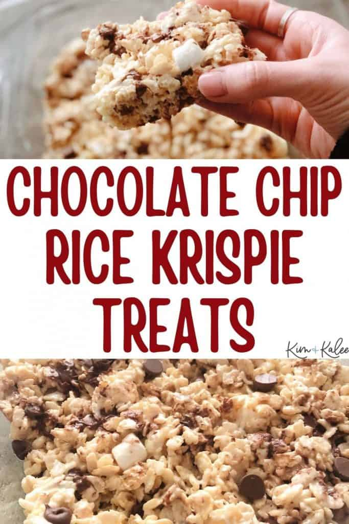 Rice Krispie Treats with Chocolate Chips Recipe