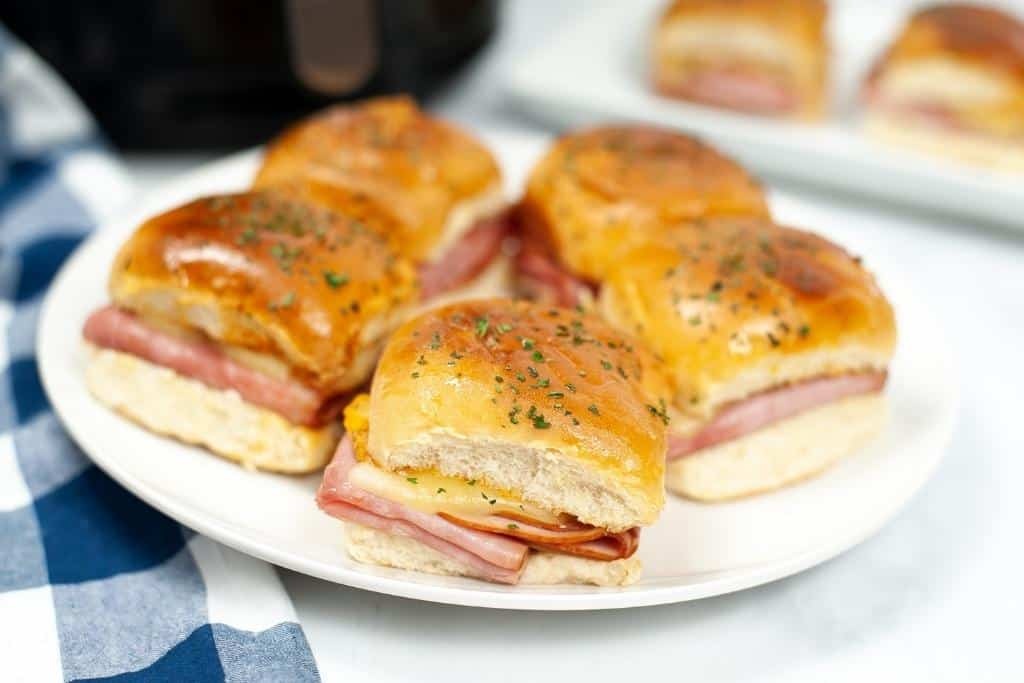 5 air fryer ham and cheese sandwiches