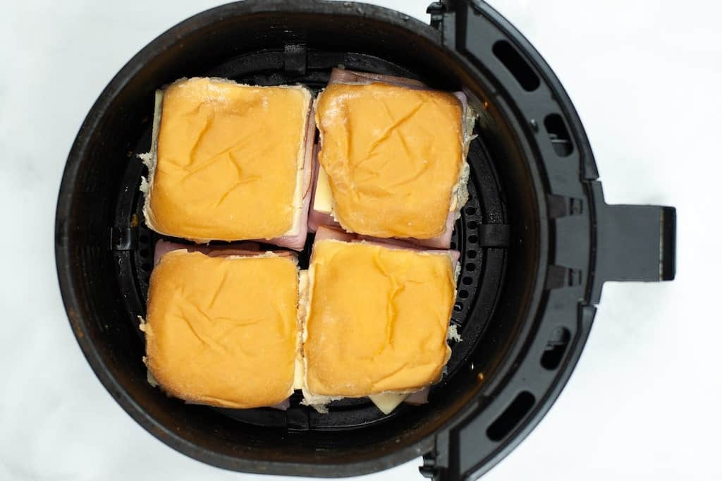 ham and cheese sandwiches in air fryer