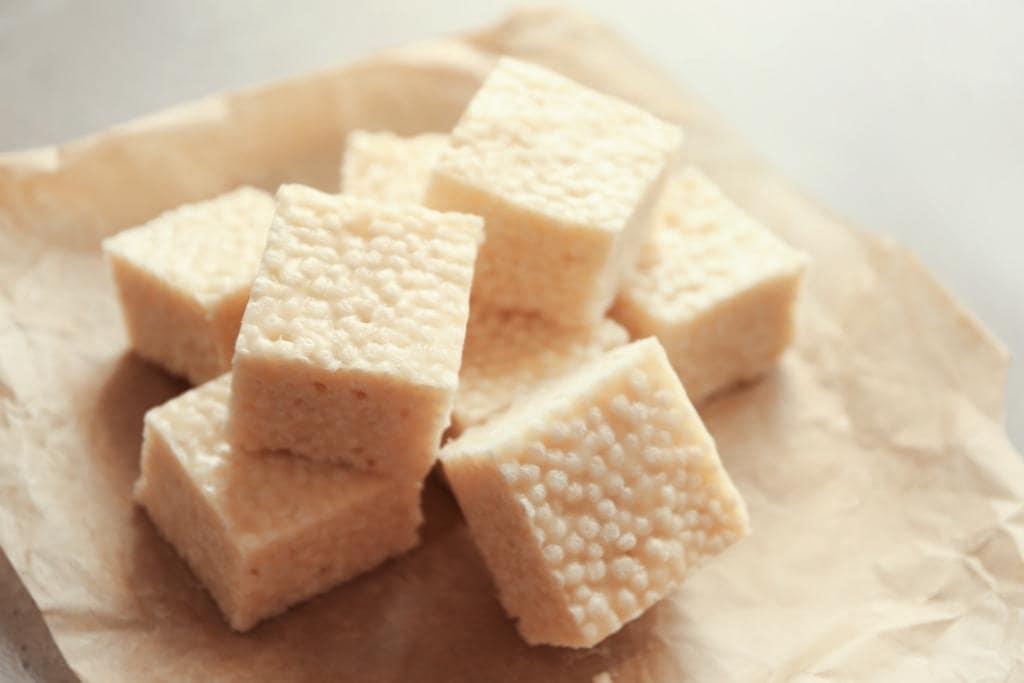 rice Krispie treats with marshmallow fluff