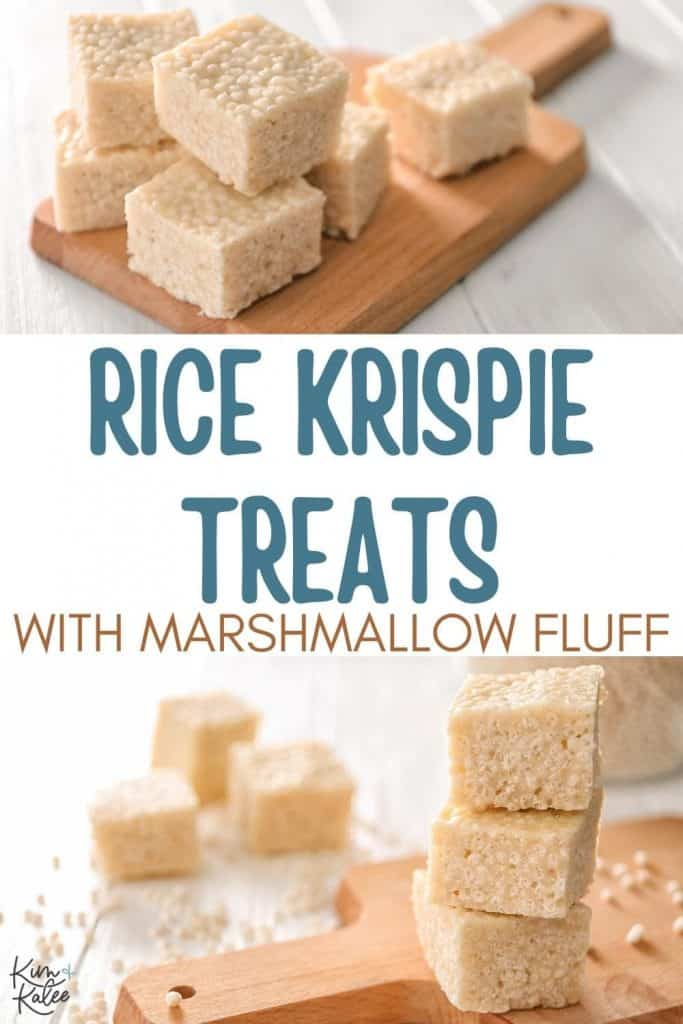 Rice Krispie Treats Recipe with Marshmallow Fluff Collage