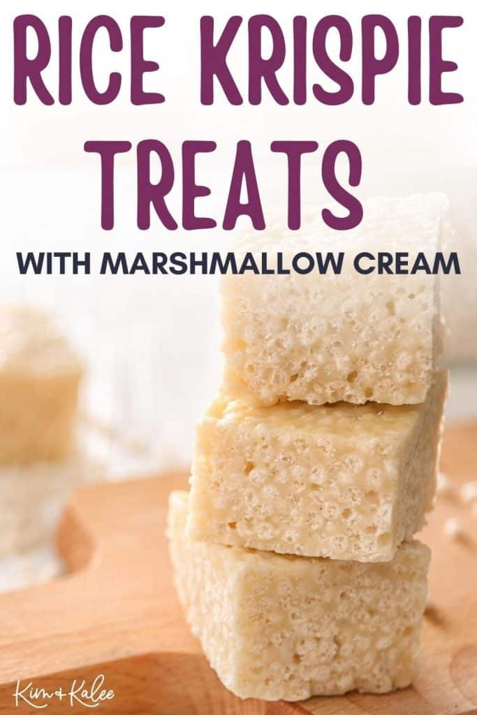 rice crispy treat recipe with marshmallow fluff
