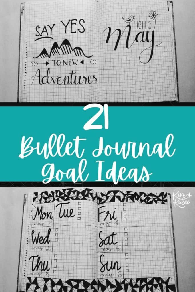 21 bullet journal goal page ideas