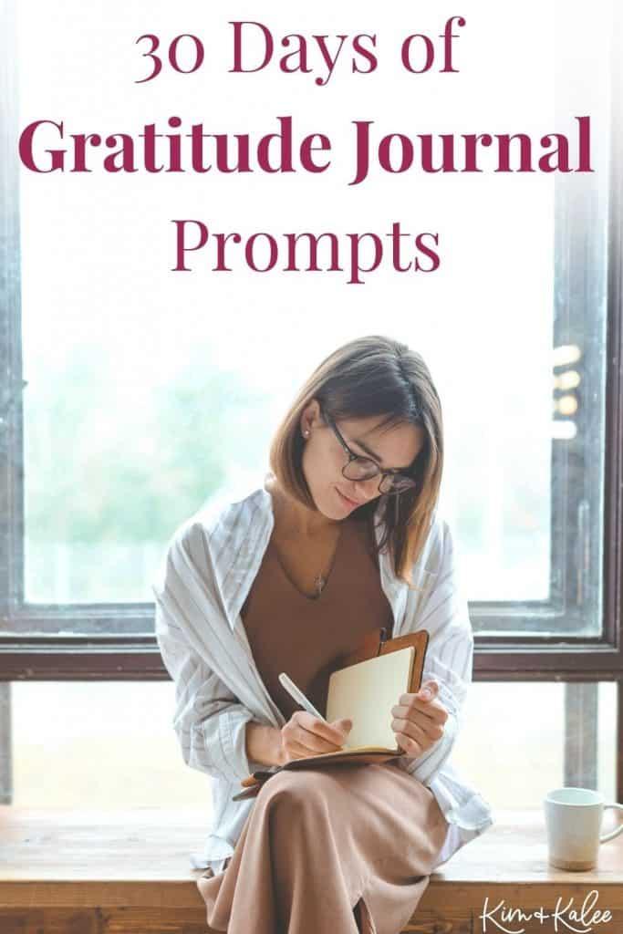 30 Daily Gratitude Journal Prompts Pinterest Pin