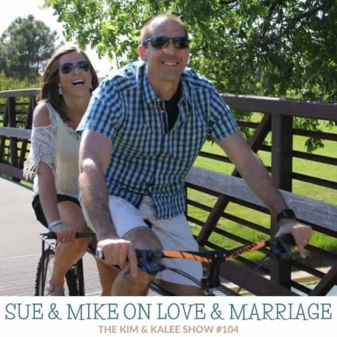 Sue & Mike on tandem bike riding