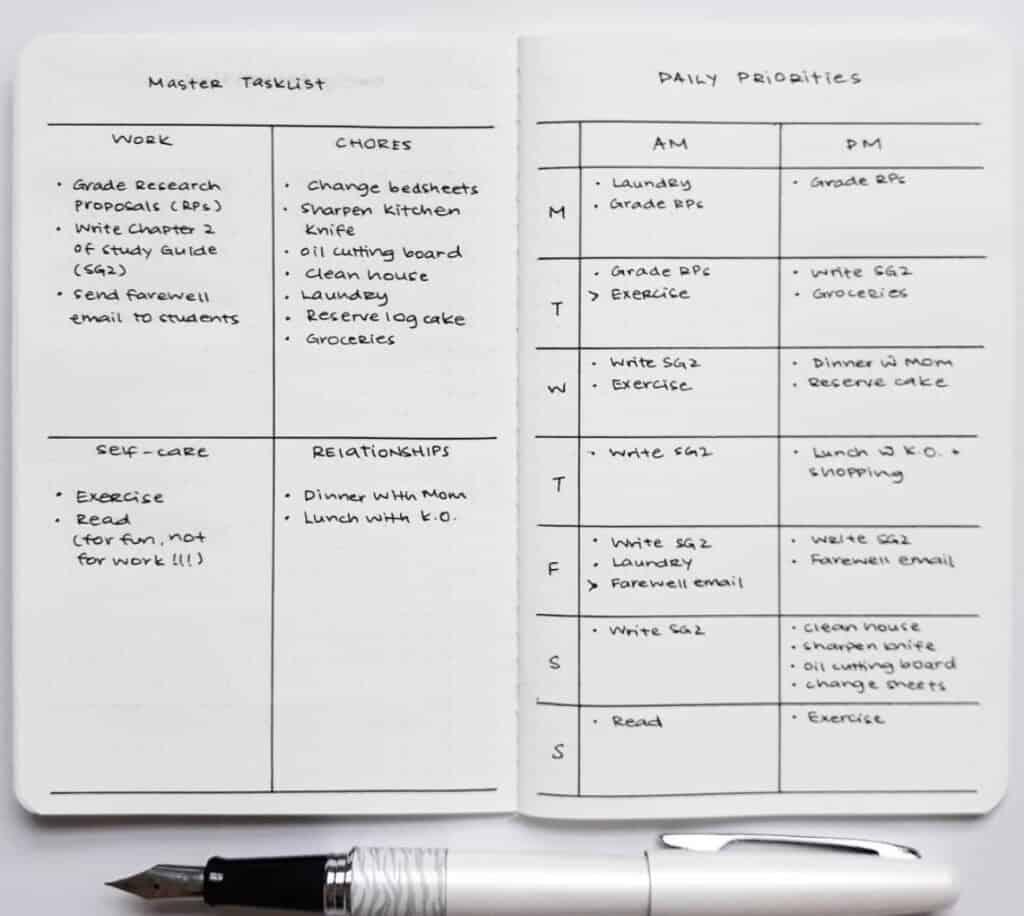 minimalist bullet journal spread by yukikosakamura