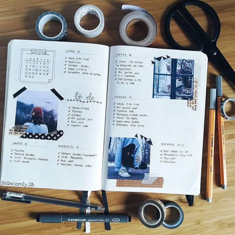 bullet journal collage