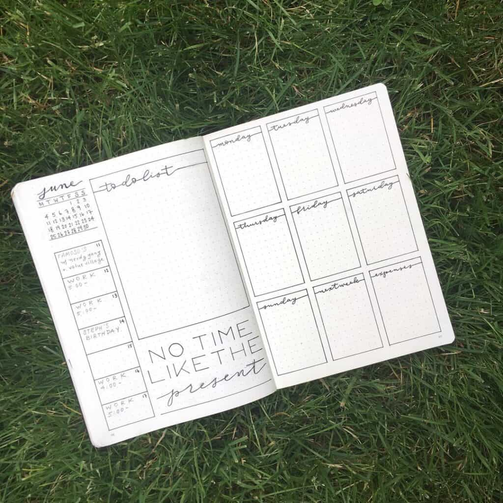 To do list minimalist bullet journal pages