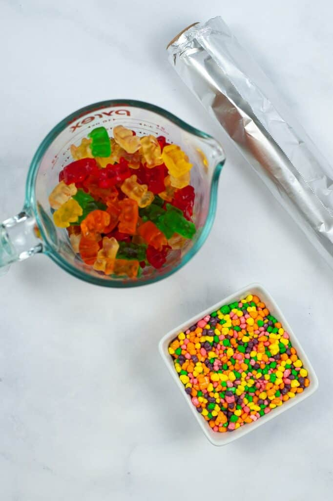 Copycat Nerd Ropes Ingredients - Gummy Bears and Nerds