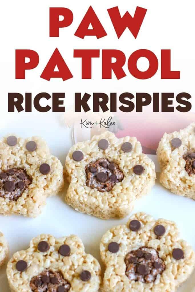 paw patrol rice krispies