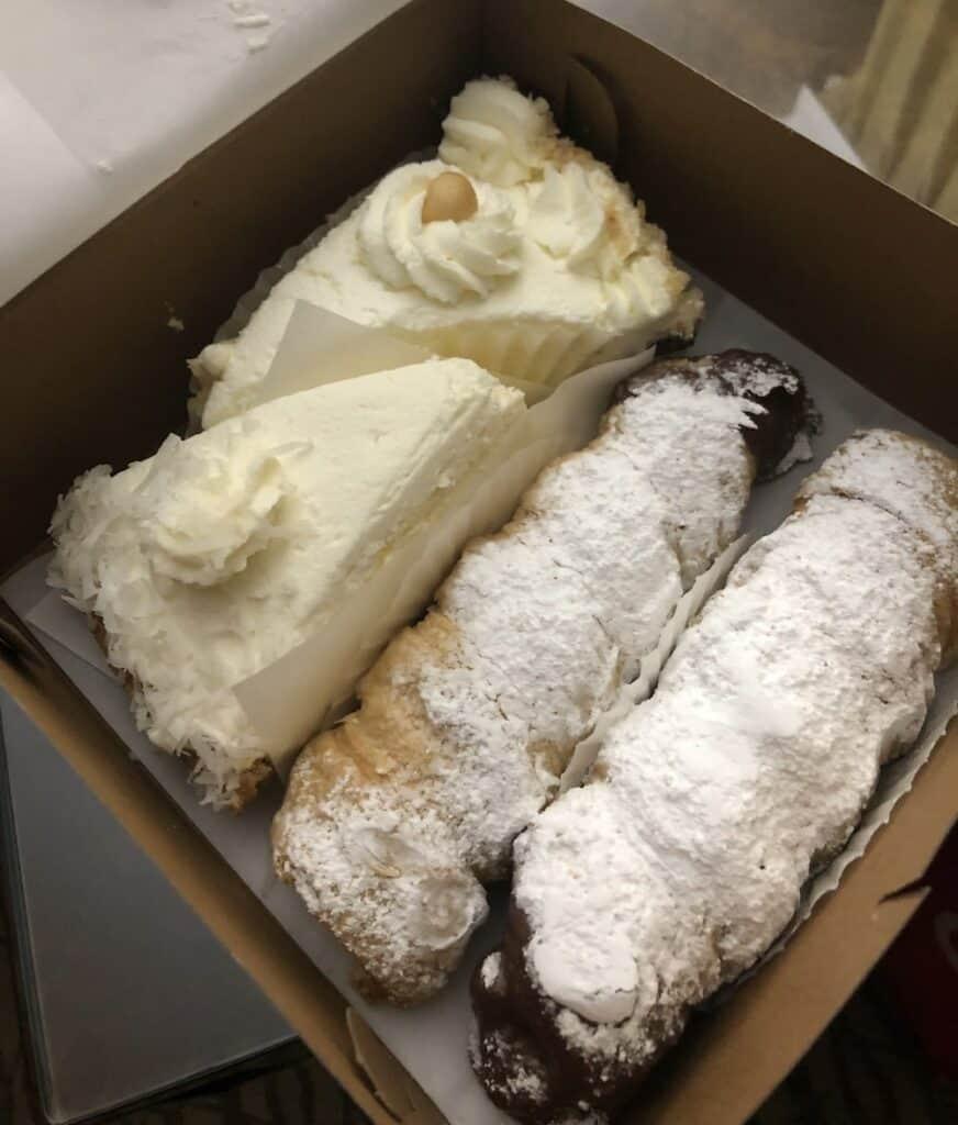stillwells bakey cream horns and pie slices