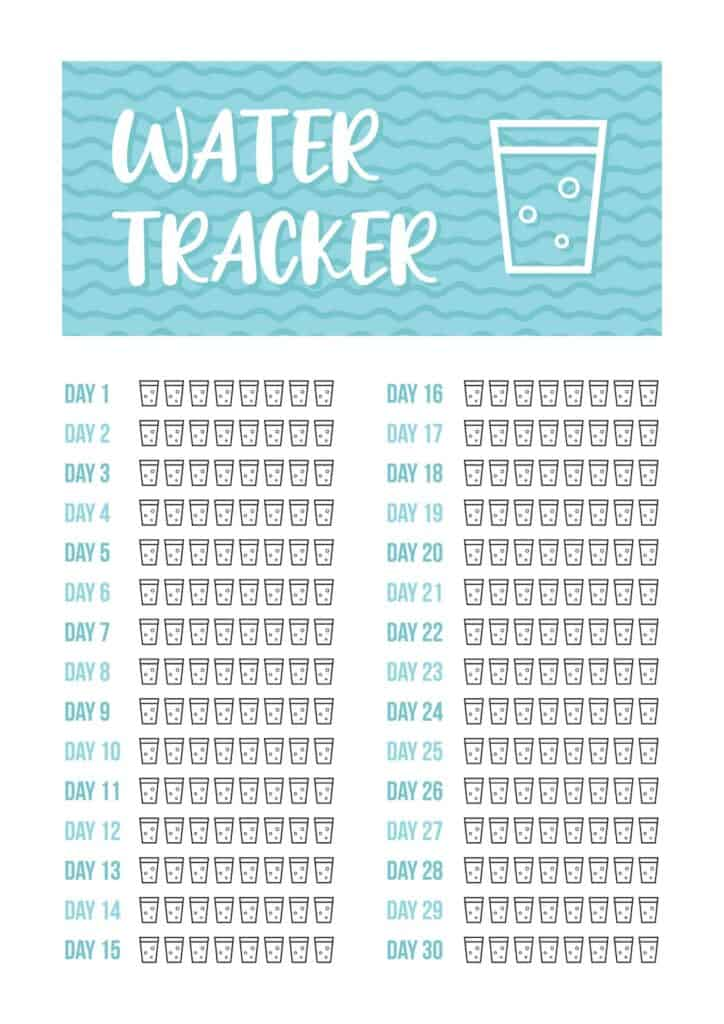 water intake tracker