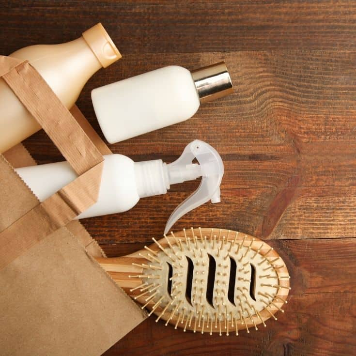 self care package idea for boyfriend (shampoo, brush, conditioner, soap)