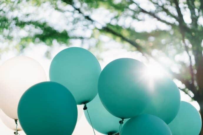 tiffany blue balloons