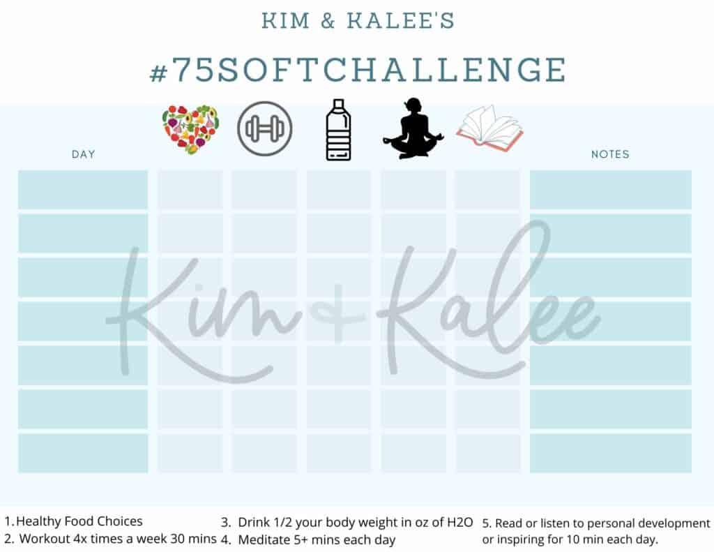 75 Soft Challenge Checklist
