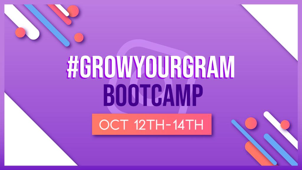 Bootcamp logo starts October 12-14th