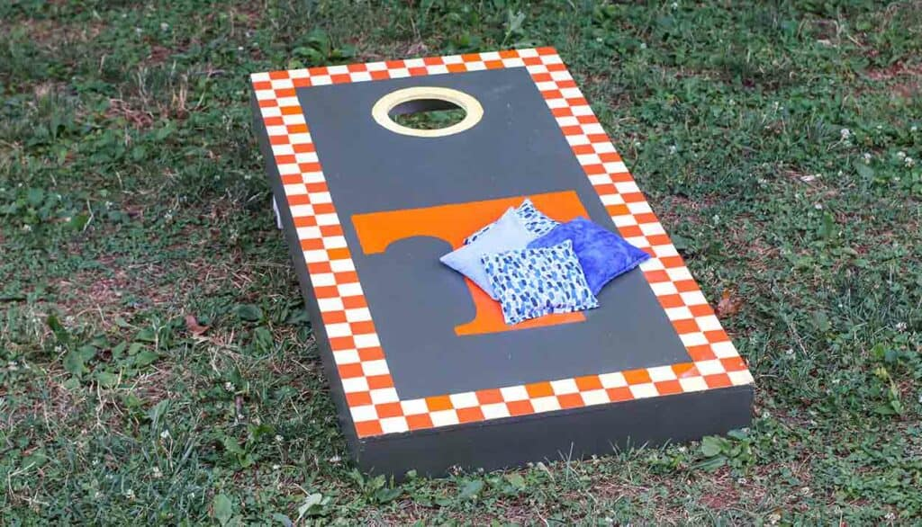 corn hole bags are a great teacher gift idea for men
