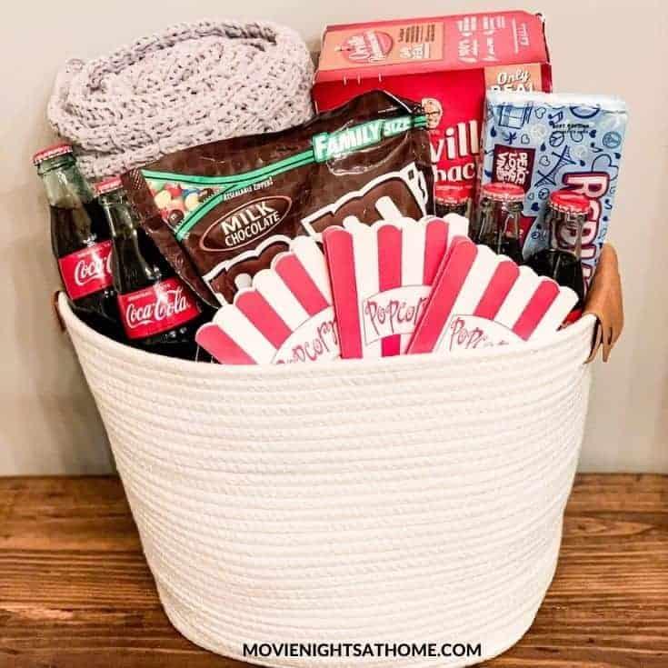 DIY Movie Night Gift Basket