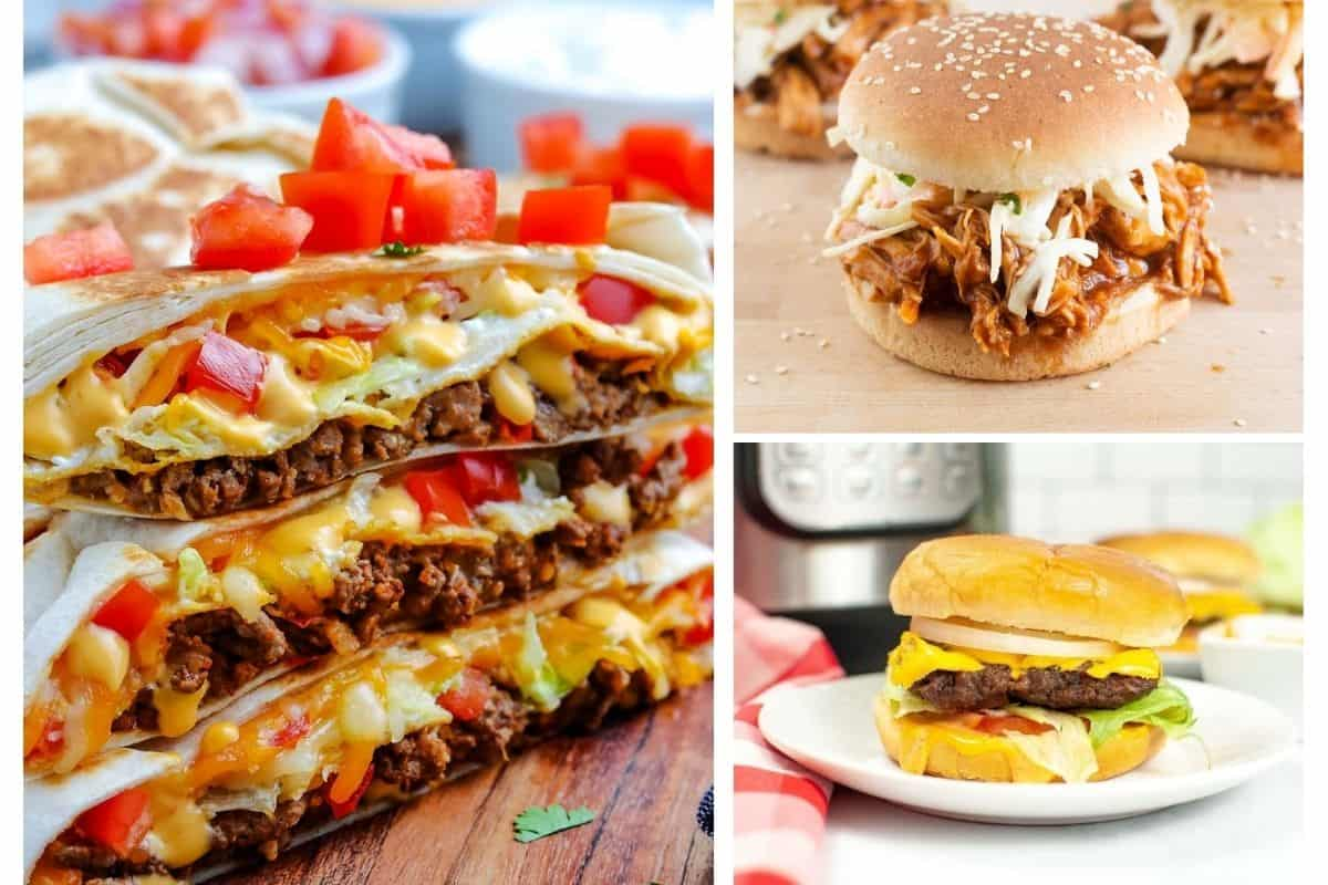 Easy Fun Dinner Ideas collage