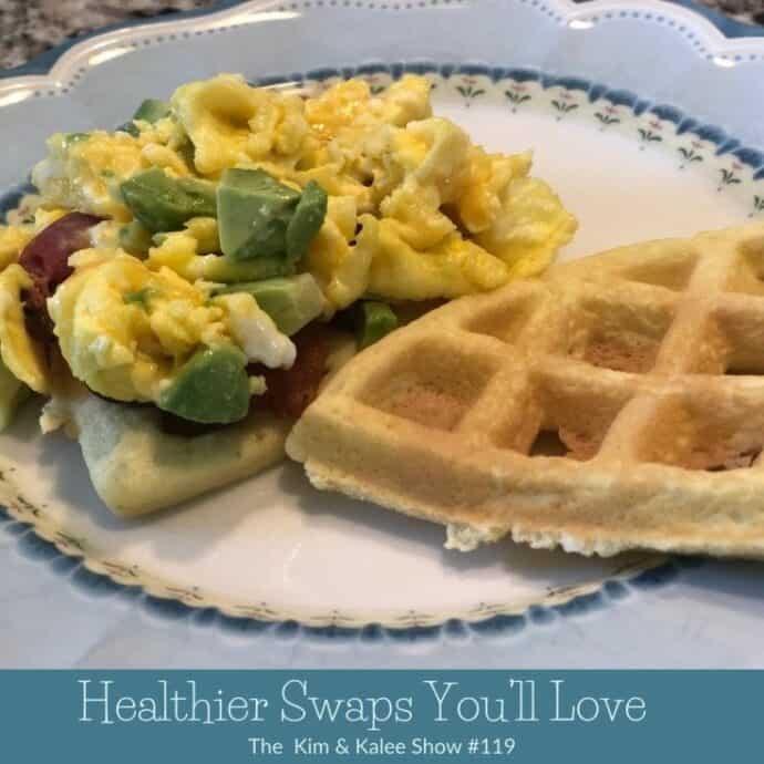 Chaffle with egg & avocado