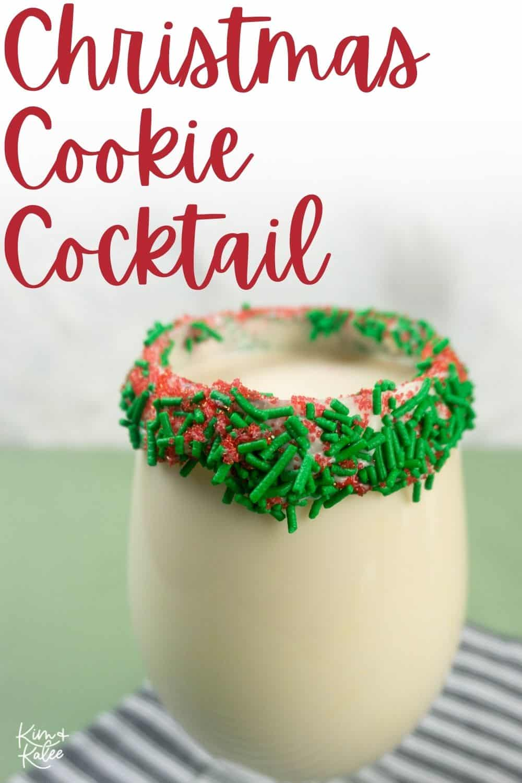 Christmas Sugar Cookies for Santa Cocktail