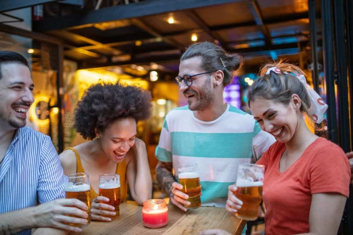 beer tasting party with you and 3 friends is a great 21st birthday idea