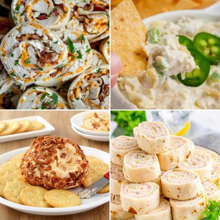 4 cold appetizers finger foods collage